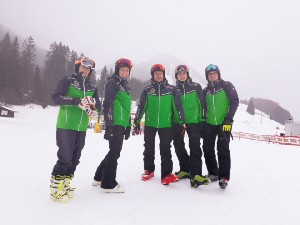 Skikurs Tag 1 in Berwang